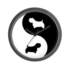 Yin Yang Sealyham Wall Clock