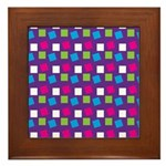 Girlie Confetti Framed Tile