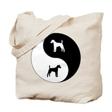 Yin Yang Smooth Fox Tote Bag