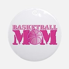 Basketball Mom Pink Ornament (Round)