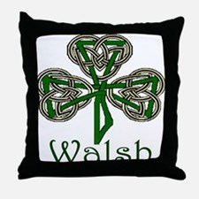 Walsh Shamrock Throw Pillow