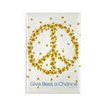 Give Bees a Chance Rectangle Magnet (100 pack)