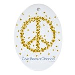 Give Bees a Chance Oval Ornament