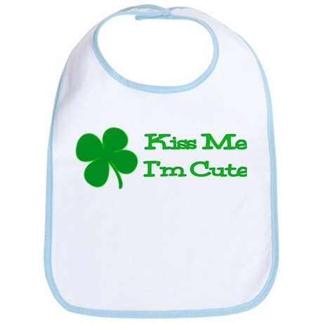 Kiss Me I'm Cute 2 Bib