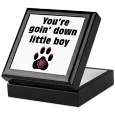 You Are Going Down Little Boy: Keepsake Box