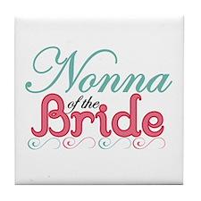 Nonna of the Bride Tile Coaster