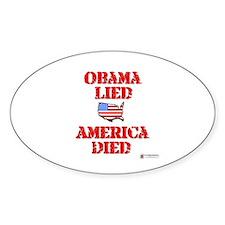 Obama lied Oval Decal