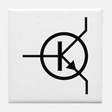 transistor icon Tile Coaster