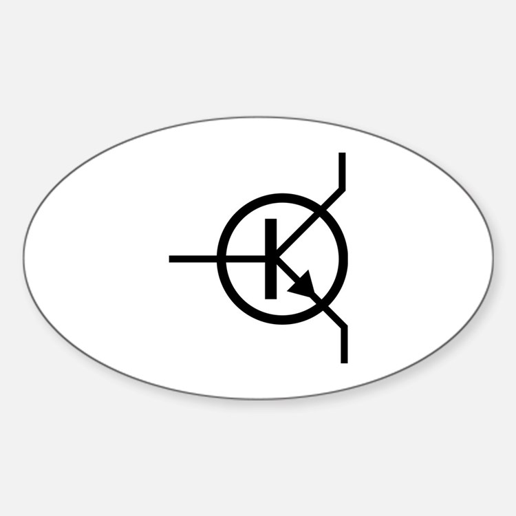 transistor icon Oval Decal