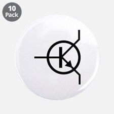 "transistor icon 3.5"" Button (10 pack)"