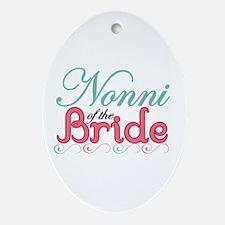 Nonni of the Bride Oval Ornament