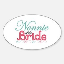 N onnie of the Bride Oval Decal