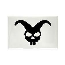 rabbit bunny skull Rectangle Magnet (100 pack)