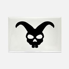 rabbit bunny skull Rectangle Magnet