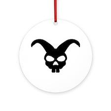 rabbit bunny skull Ornament (Round)