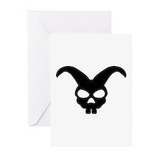 rabbit bunny skull Greeting Cards (Pk of 20)