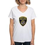 Compton College PD Women's V-Neck T-Shirt