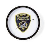 Compton College PD Wall Clock