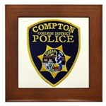Compton College PD Framed Tile