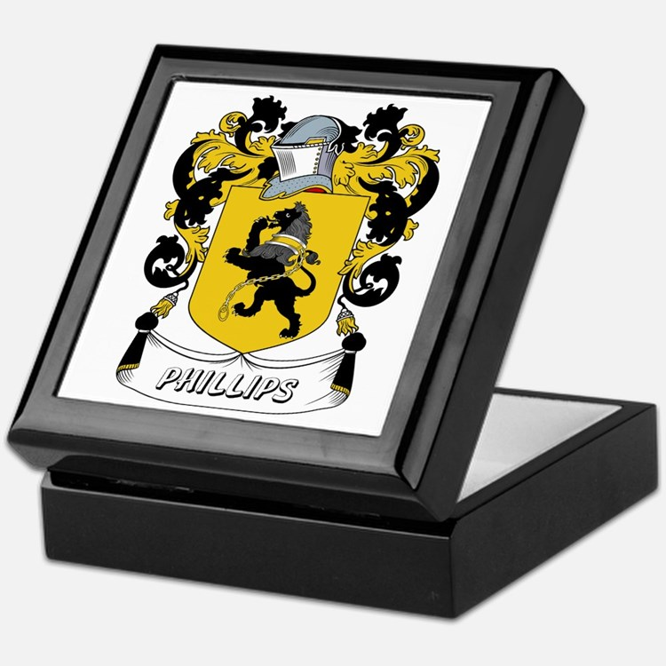 Phillips Coat of Arms Keepsake Box