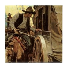 Admirable Outlaw by NC Wyeth Tile Coaster