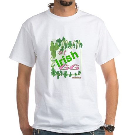 #1 IRISH GG White T-Shirt