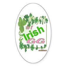 #1 IRISH GG Oval Decal