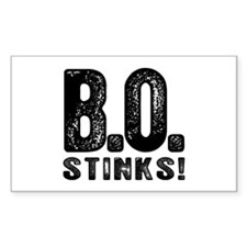 B.O. Stinks Rectangle Decal