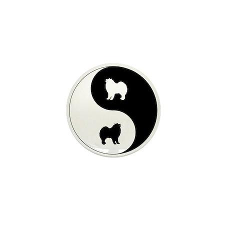Yin Yang Samoyed Mini Button (10 pack)