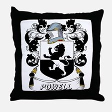 Powell Coat of Arms Throw Pillow
