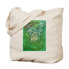 My Life Green Cancer Angel Tote Bag
