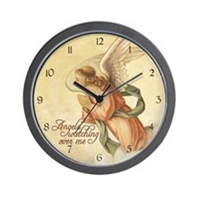 Angels Watching Wall Clock