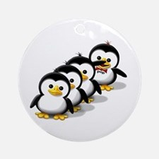 Flock of Penguins Ornament (Round)