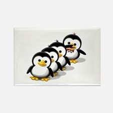 Flock of Penguins Rectangle Magnet