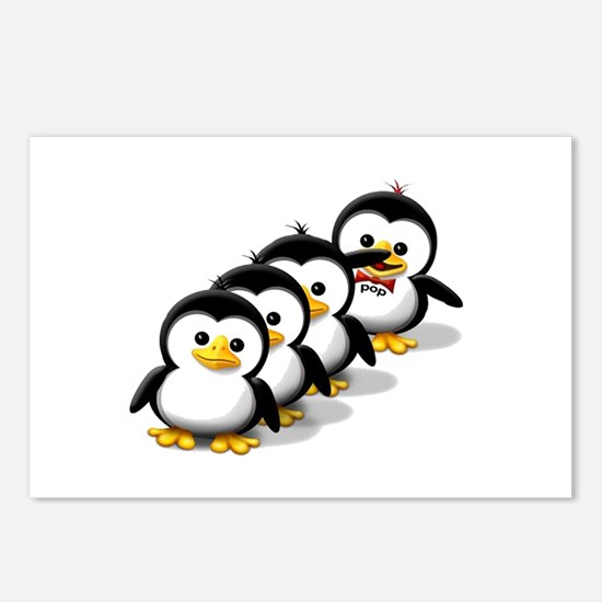 Flock of Penguins Postcards (Package of 8)