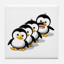 Flock of Penguins Tile Coaster