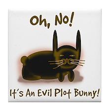 Evil Plot Bunny Tile Coaster