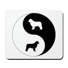 Yin Yang Newfie Mousepad