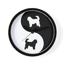 Yin Yang Otterhound Wall Clock