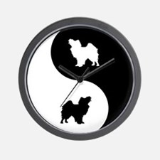 Yin Yang Papillon Wall Clock