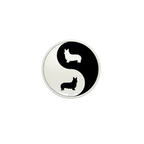 Yin Yang Pembroke Mini Button