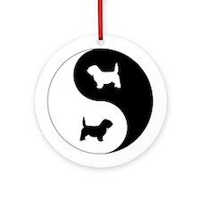 Yin Yang PBGV Ornament (Round)