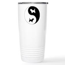 Yin Yang PBGV Travel Mug