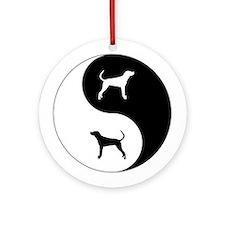 Yin Yang Plott Ornament (Round)