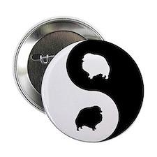 """Yin Yang Pomeranian 2.25"""" Button"""