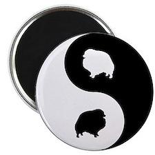 Yin Yang Pomeranian Magnet