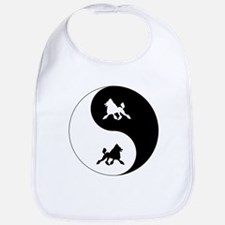 Yin Yang Poodle Bib