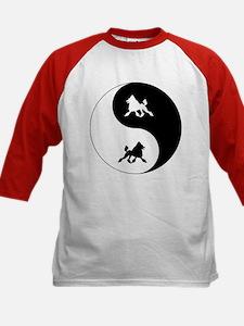 Yin Yang Poodle Kids Baseball Jersey