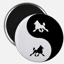 Yin Yang Poodle Magnet