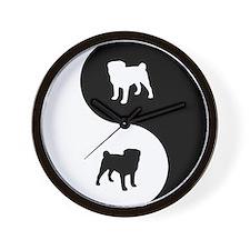 Yin Yang Pug Wall Clock